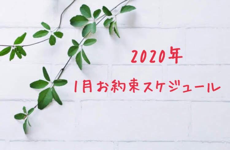 2020年 1月のお約束スケジュール