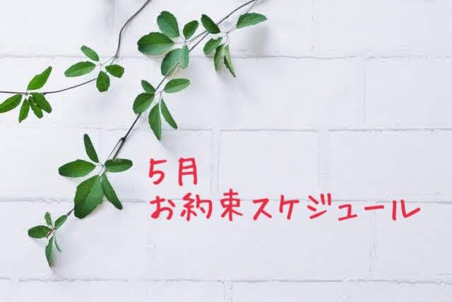 5月のお約束スケジュール